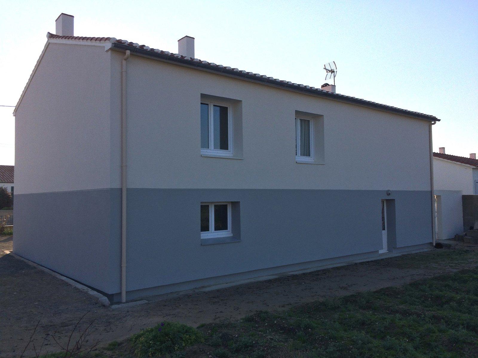 Isolation extérieure d'une maison terminée par ROGER SAS en Loire Atlantique
