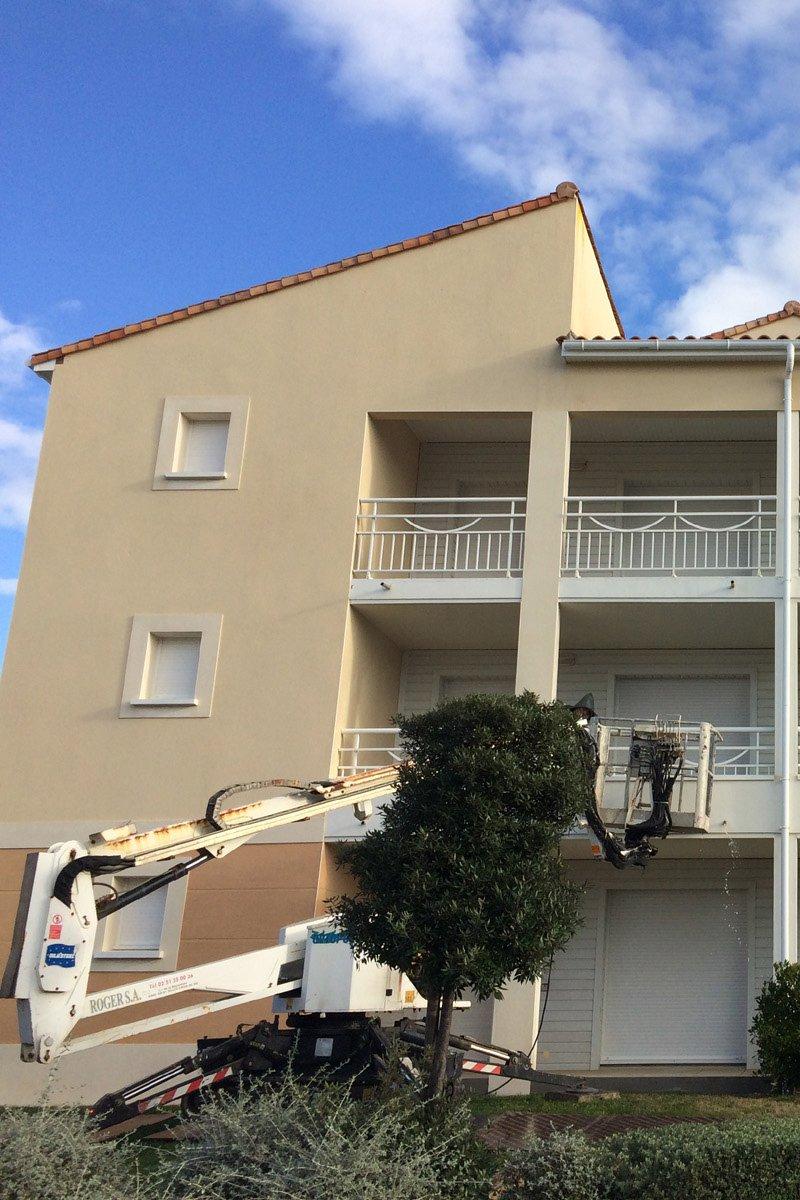 Photo de la rénovation d'une façade terminée par ROGER SAS en Loire Atlantique